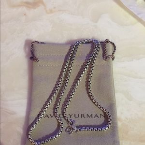 David Yurman 22 Inch 3.6mm Chain w DY POUCH